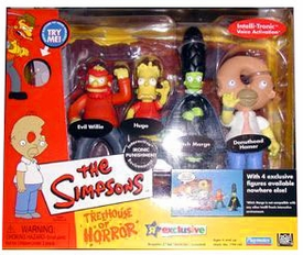 The Simpsons Exclusive Playmates Playset Treehouse of Horror 3 Ironic Punishment [Evil Willie, Hugo, Witch Marge & Donuthead Homer]