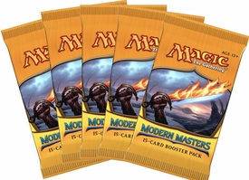 Magic the Gathering Modern Masters LOT OF 5 Booster Packs