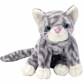 Ty Beanie Baby Silver the Grey Tabby