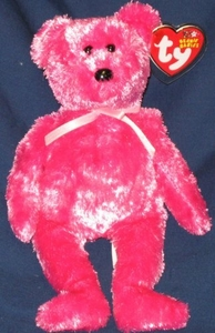 Ty Beanie Baby Sherbert the Raspberry Bear