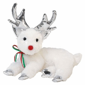 Ty Beanie Baby Sleighbelle the White Reindeer