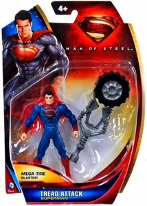 Man of Steel Movie Basic Action Figure Tread Attack Superman
