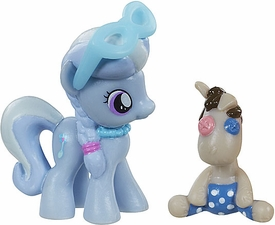 My Little Pony Friendship is Magic 2 Inch PVC Figure Silver Spoon with Smarty Pants