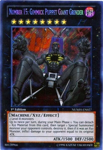 YuGiOh Number Hunters Single Card Secret Rare NUMH-EN027 Number 15: Gimmick Puppet Giant Grinder
