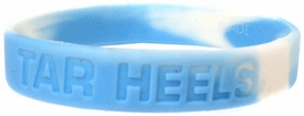 Official NCAA College School Rubber Bracelet NORTH CAROLINA Tar Heels [Marble Color]