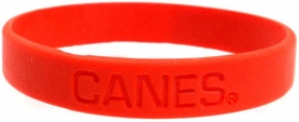 Official NCAA College School Rubber Bracelet MIAMI Hurricanes (Orange)