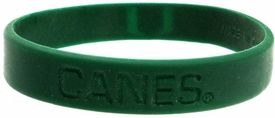 Official NCAA College School Rubber Bracelet MIAMI Hurricanes (Green)