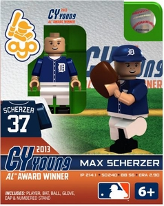 OYO Baseball MLB Generation 2 Building Brick Minifigure Cy Young Max Scherzer [Detroit Tigers]