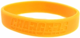Official NFL Team Rubber Bracelet San Diego Chargers [Yellow]