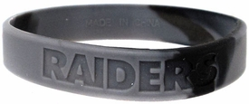 Official National Football League NFL Team Rubber Bracelet Oakland Raiders [Marble Color]