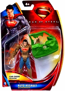 Man of Steel Movie Basic Action Figure Auto Assault Superman