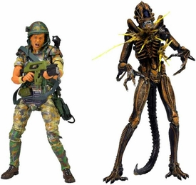 NECA Aliens Action Figure 2-Pack Hudson & Battle Damaged Brown Warrior Pre-Order ships March