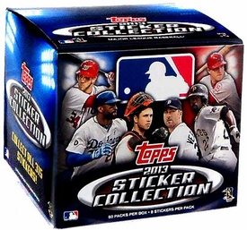 Topps MLB Baseball 2013 Sticker Collection Box [50 Packs of 8 Stickers]
