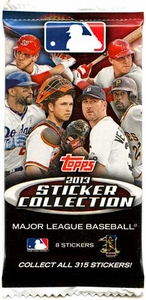 Topps MLB Baseball 2013 Sticker Collection Pack [8 Stickers]