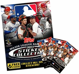 Topps MLB Baseball 2013 Sticker Collection Set [Album + 5 Packs]