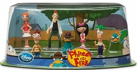 Disney Phineas & Ferb Exclusive 7 Piece PVC Figurine Playset