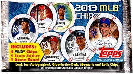 Topps MLB Baseball 2013 Chipz Booster Pack [4 Chipz, 1 Team Sticker & 1 Game Board]