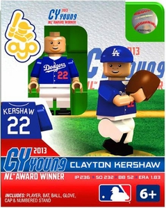 OYO Baseball MLB Building Brick Minifigure Clayton Kershaw [Los Angeles Dodgers] 2013 Cy Young NL Award Winner