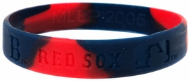 Official MLB Major League Baseball Team Rubber Bracelet Boston Red Sox [Marble Color]