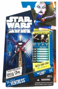 Star Wars 2010 Clone Wars Animated Action Figure CW No. 15 Asajj Ventress