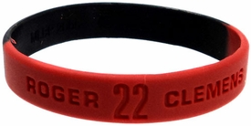 Forever Collectibles Official MLB Rubber Bracelet Signature Series Roger Clemens