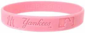 Official MLB Team Rubber Bracelet Girls Style New York Yankees [Pink]
