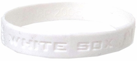 Official MLB Major League Baseball Team Rubber Bracelet Chicago White Sox (Random Color)