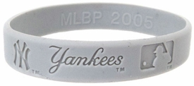 Official MLB Major League Baseball Team Rubber Bracelet New York Yankees [Gray]