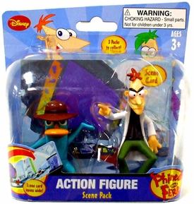 Disney Phineas and Ferb Mini Figure Scene 2-Pack Dr. Doofenshmirtz & Agent P. [Laboratory]