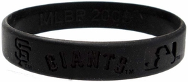 Official MLB Major League Baseball Team Rubber Bracelet San Francisco Giants [Black]