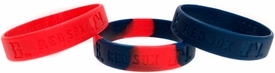 Forever Collectibles Official MLB Team Rubber Bracelet Boston Red Sox [3pack]