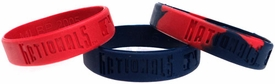 Forever Collectibles Official MLB Rubber Bracelet Washington Nationals [3 Pack]