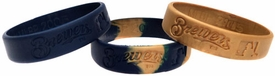 Forever Collectibles Official MLB Team Rubber Bracelet Milwaukee Brewers [3 Pack]