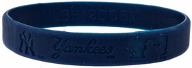 Official MLB Major League Baseball Team Rubber Bracelet New York Yankees [Blue]
