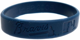 Official MLB Major League Baseball Team Rubber Bracelet Atlanta Braves (Random Color)