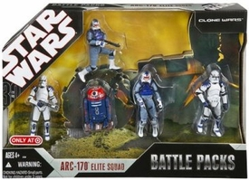 Star Wars 2007 Revenge of the Sith Exclusive Action Figure Battle Pack ARC-170 Elite Squad