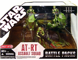 Star Wars 2007 Revenge of the Sith Exclusive Action Figure Battle Pack AT-RT Assault Squad [Kashyyyk Battle]