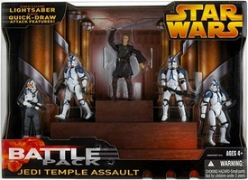 Star Wars EIII Revenge of the Sith Exclusive Deluxe Battlepack Action Figure Set Jedi Temple Assault
