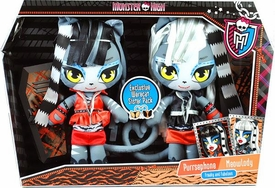 Monster High Exclusive Plush Set Werecat Sisters [Purrsephone & Meowlady]