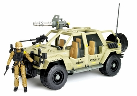 GI Joe Pursuit of Cobra 3 3/4 Inch Bravo Vehicle VAMP 4X4 with Double Clutch Action Figure