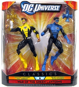 DC Universe Classics Exclusive War of the Green Lanterns Action Figure 2-Pack Yellow Lantern Hal Jordan & Blue Lantern Kyle Rayner