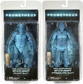 NECA Prometheus Series 3 Set of Both Engineer Action Figures [Chair & Pressure Suit Holographic Forms]