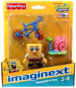 SpongeBob Squarepants Imaginext Exclusive Mini Figure 2-Pack SpongeBob & Gary the Snail