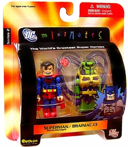 DC Universe Minimates Series 2 Mini Figure 2-Pack Battle-Damaged Superman & Brainiac 13
