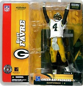 McFarlane Toys NFL Sports Picks Series 7 Action Figure Brett Favre (Green Bay Packers) White Jersey Variant