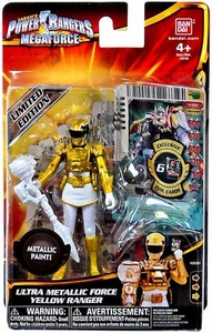 Power Rangers Megaforce Basic Action Figure Ultra Metallic Force Yellow Ranger