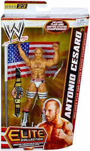 Mattel WWE Wrestling Elite Series 23 Action Figure Antonio Cesaro [Flag & United States Championship Belt!]