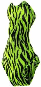 Monster High 10.5 Inch Scale LOOSE Doll Accessory Neon Green Tiger Stripe Tank Bathing Suit