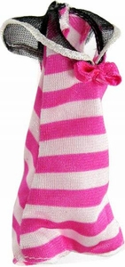 Monster High 10.5 Inch Scale LOOSE Doll Accessory Pink and White Striped Romper-Style Bathing Suit