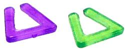 Monster High 10.5 Inch Scale LOOSE Doll Accessory Purple & Green Triangle Earrings